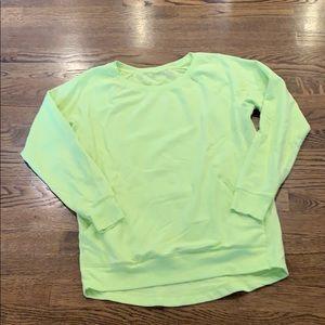 """Zella """"neon"""" yellow crewneck sweatshirt, XS"""